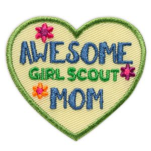 girl scout store, $1.50, AWESOME GIRL SCOUT MOM SEW-ON PATCH