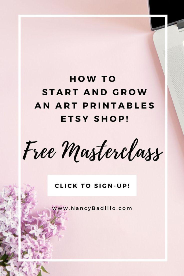 Art Printables Masterclass Nancy Badillo In 2020 Printable Art Etsy Printables Etsy Tutorial