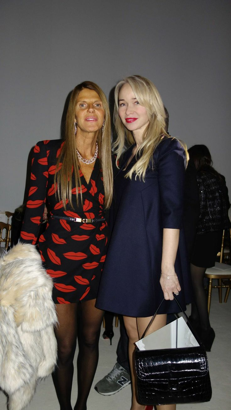 Joanna Przetakiewicz with Anna Dello Russo