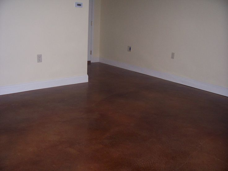 Basement Flooring Stained Concrete