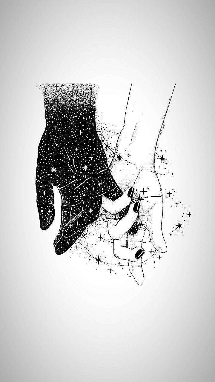 Aesthetic Cute Black And White Couple Drawings