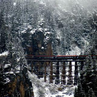 Skagway, Alaska. Train ride