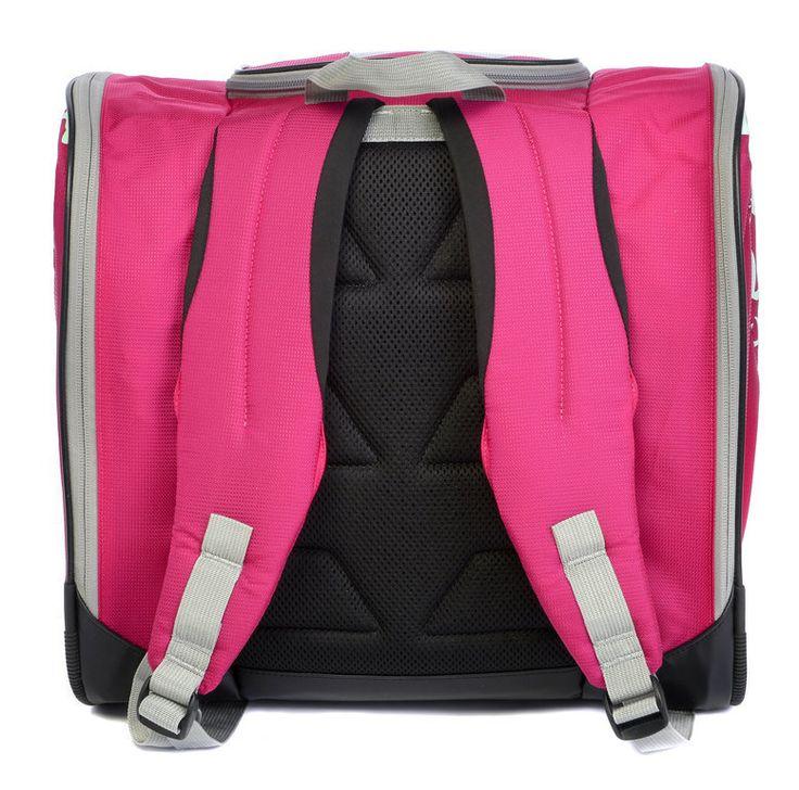 Speed Star - Girls Ski Boot Bag.  Fuchsia with comfy shoulder straps. $59.95 (https://www.bestskibootbags.com/speed-star-kids-ski-boot-bag/)