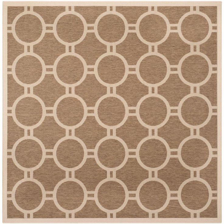 courtyard brownbone brownivory 7 ft 10 in x - Square Area Rugs