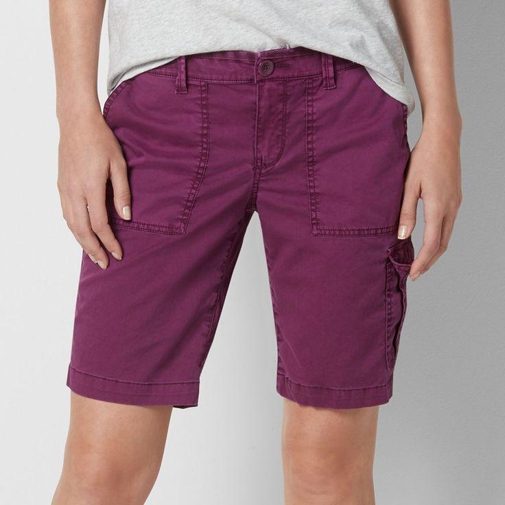 Women's SONOMA Goods for Life™ Mandy Utility Bermuda Shorts, Size: 14, Med Purple