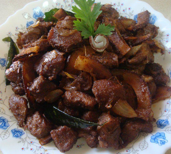 Mutton Ularthiyathu (Kerala Style Fry)