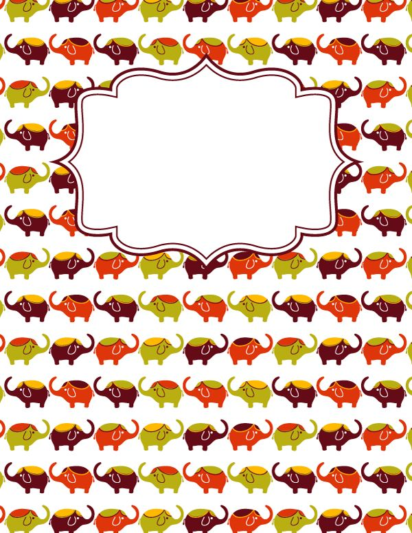 The 25 best binder cover templates ideas on pinterest binder free printable elephant binder cover template download the cover in jpg or pdf format at pronofoot35fo Images