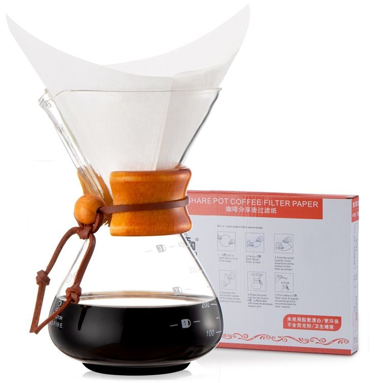 Diguo Glass Coffee Maker Classic Series Glass Coffeemaker (400ml/14oz/1-2 Cup) (One Coffee Maker with 40 pcs Paper Filter) >>> Check out the image by visiting the link.