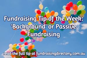 TOW background fundraising