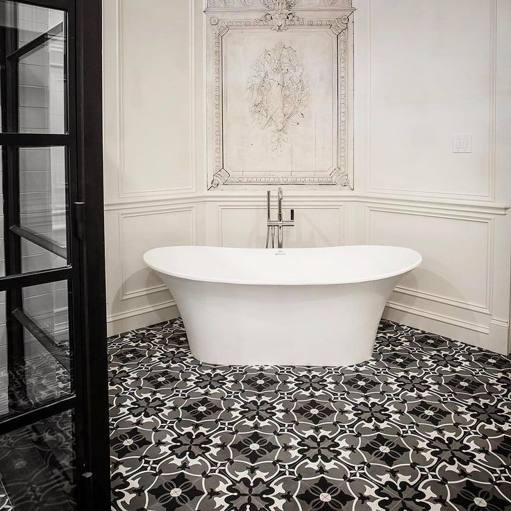 Our Verona Freestanding Bath Got A Home In This Chic Parisian Inspired  Bathroom