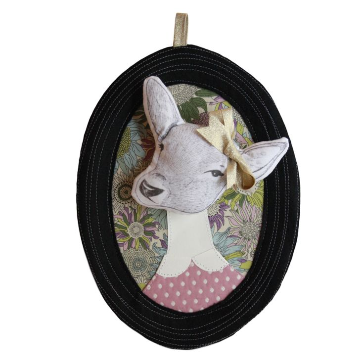 deco chambre fille trophee tete animal