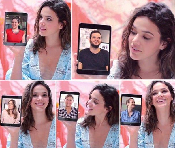 Olha eu ali no primeiro quadrado! - Bruna Marquezine responde perguntas da redação da Glamour (Foto: Reprodução)