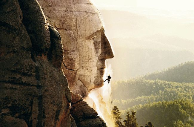 German cleaning equipment company Karcher cleans Mt. Rushmore for free