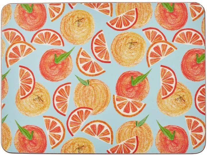 Rosa & Clara Designs - Oranges Placemats Set of Four Large
