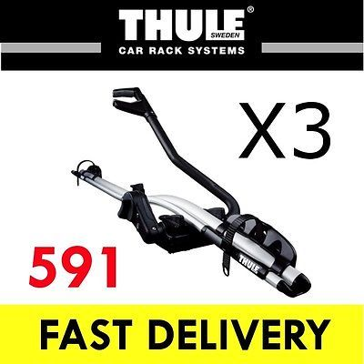 3x #thule 591 #proride roof mount cycle / bike carrier 20kg #model,  View more on the LINK: http://www.zeppy.io/product/gb/2/170863163580/