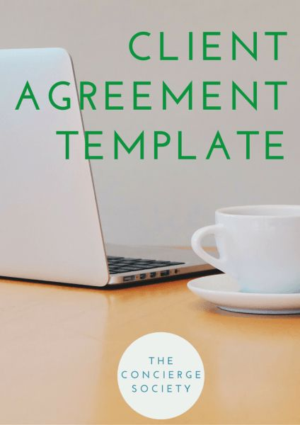 Personal Concierge Client Agreement Template - The Concierge Secret Society membership from The Concierge Society #concierge #personalconcierge #lifestylemanager