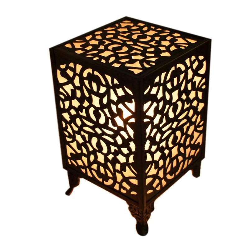 Oxidized Brass Moroccan Table Lamp