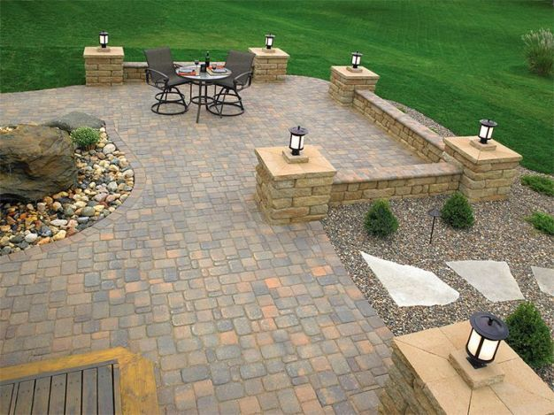 Patio Ideas With Pavers And Hot Tub Paver Patio Designs