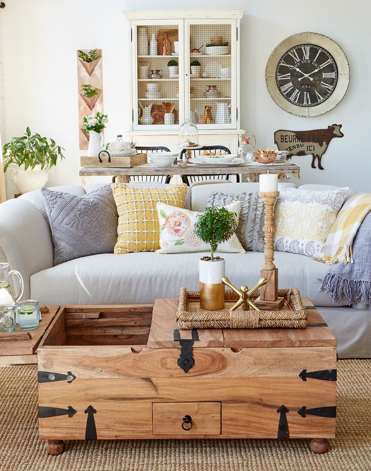 My Gorgeous Modern Farmhouse living room design all from HomeGoods!