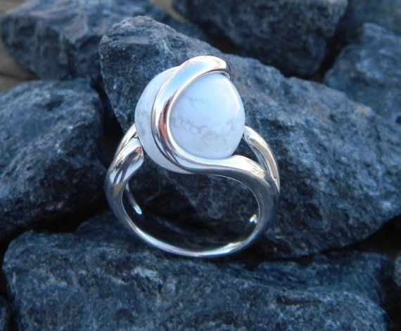 .925 sterling silver with 10mm syn black opal Interchangeable ring