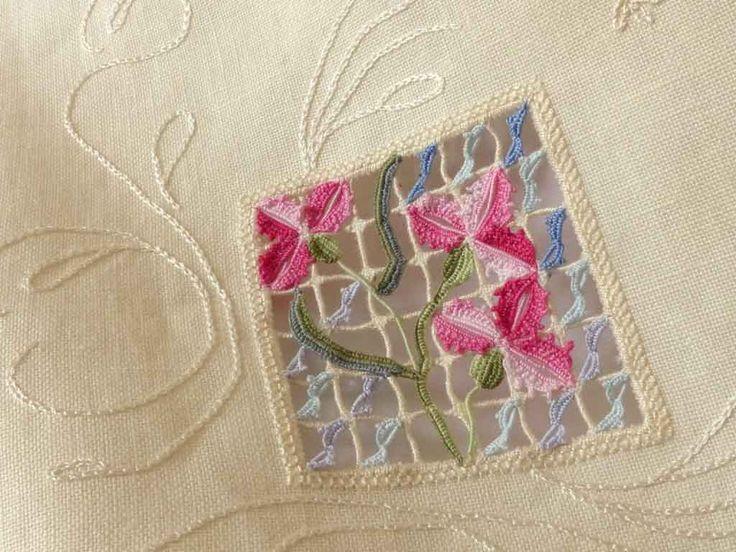 My fourth reticello flower set.
