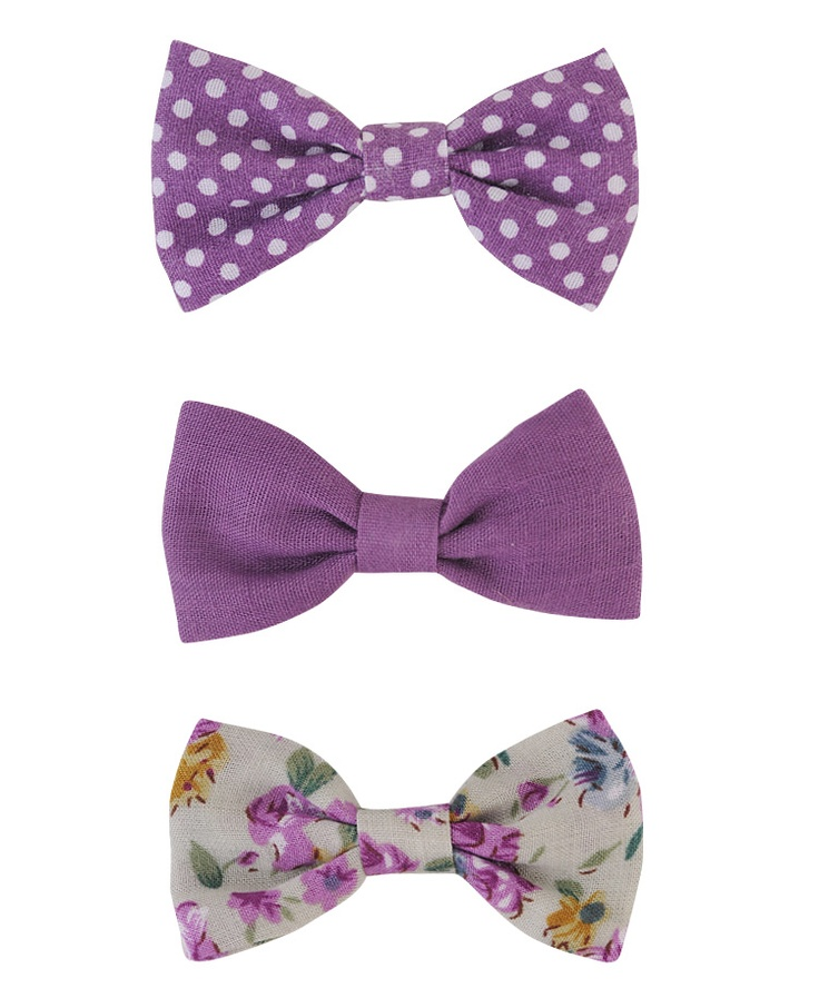 These hair bows are so cute and I love purple! (Forever 21)