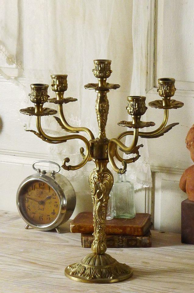 アンティーク キャンドルスタンド(5連) French Vintage Candle Stand