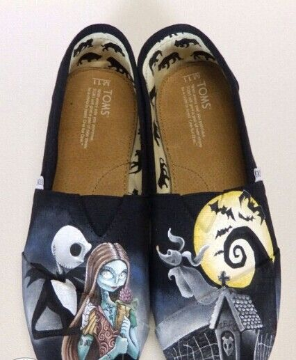 #TomsShoes The Nightmare Before Christmas Jack and Sally Toms Shoes