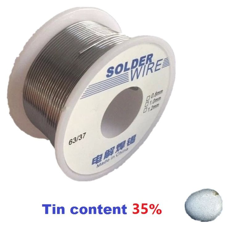 100g 0.8mm 35% Tin Solder Wires Rosin Containing High Purity Eco-friendy 2.0% Flux Welding Tool Lower Melting Electronics HXS02