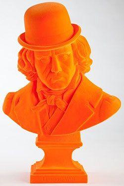 LUDWIG VAN bust by Frank Kozik. I did I mention is orange frocked? Brilliant.