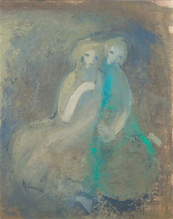 Two Women - Artworks of Elvi Maarni (Finnish, 1907 - 2006) from galleries, museums and auction houses worldwide.
