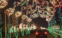 christmas lights on the boardwalk virginia beach