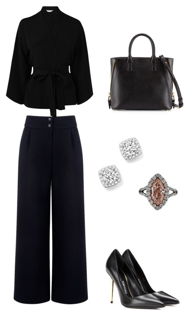 """Funeral Attire"" by natashala-campbell on Polyvore featuring Être Cécile, L.K.Bennett, Tom Ford and Bloomingdale's"