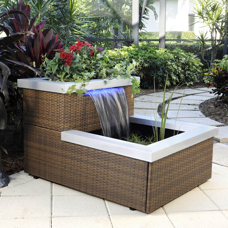 Two Tier Illumifalls Patio Pond By Smartpond Smartpond Patiopond Waterfeature Container