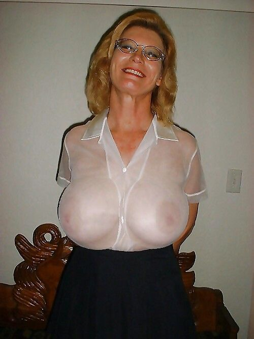 Thin granny white blouse apologise