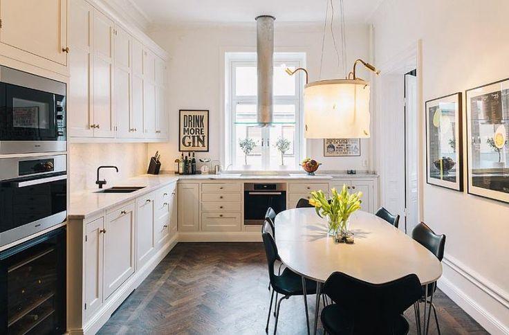 Kitchen inspiration - with parquet flooring