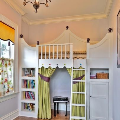 princess bed builtins | Built-in princess bed with a stage underneath. | Sugar and Spice and ...