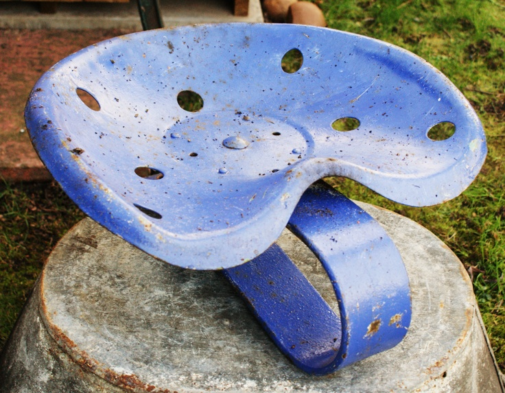 Great Old Painted Tractor Seat