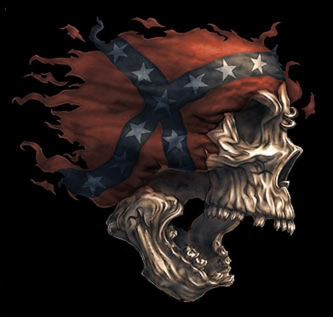 rebel flag skull background | rebel skulls graphics and comments