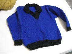Tricot e Croche Passo a Passo Receitas: Blusa de tricô para Menino de 4 a 5 anos