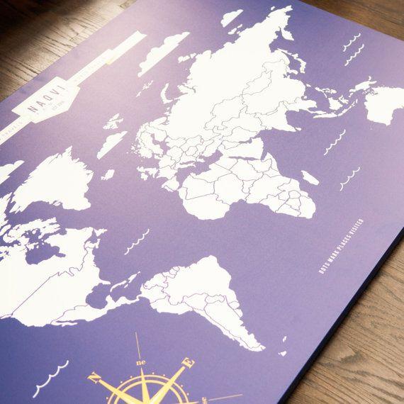 Interactive World Travel Map – World Traveler Map Set