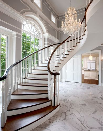 Traditional Staircase design by Milwaukee Architect Wade Weissmann Architecture