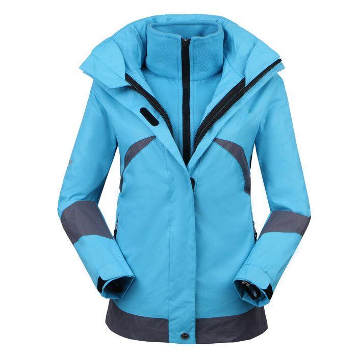 Куртки 2014 высокое качество открытый пиджаки водонепроницаемый тепло для женщин женский двойной слой 2на1 лыжных восхождение пальто