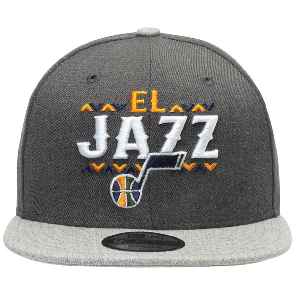 c63c2d6e02a New Era Utah Jazz Charcoal Noches 9FIFTY Adjustable Hat