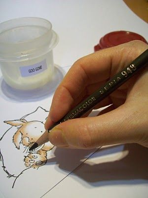 Colored Pencil Tutorial - this is neat, I think I might have to try it. Goo  gone or baby oil instead of a blender pen.