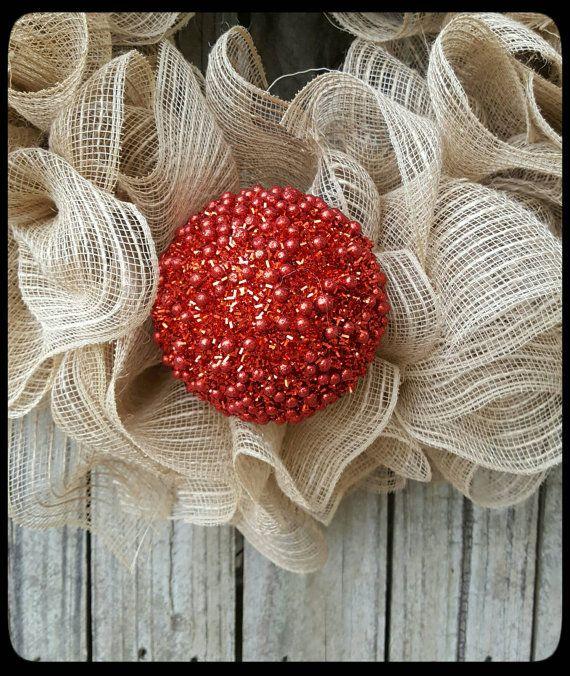 Guirnalda de la Navidad Reno corona guirnalda de la malla de