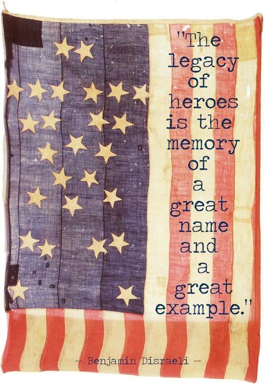 In Memory of all who have served ~ Land of the Free because of the Brave. Happy Memorial Day!