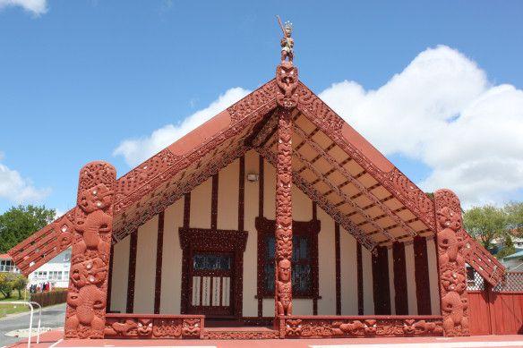 Ohinemutu Marae NZ, wij zijn hier getrouwd bij de Te Arawa iwi