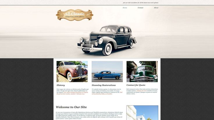 Diseño web para coches clasicos, concesionario vehiculos