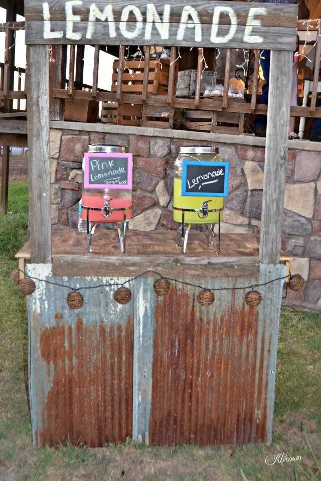 17 best images about lemonade stands on pinterest for Rustic lemonade stand